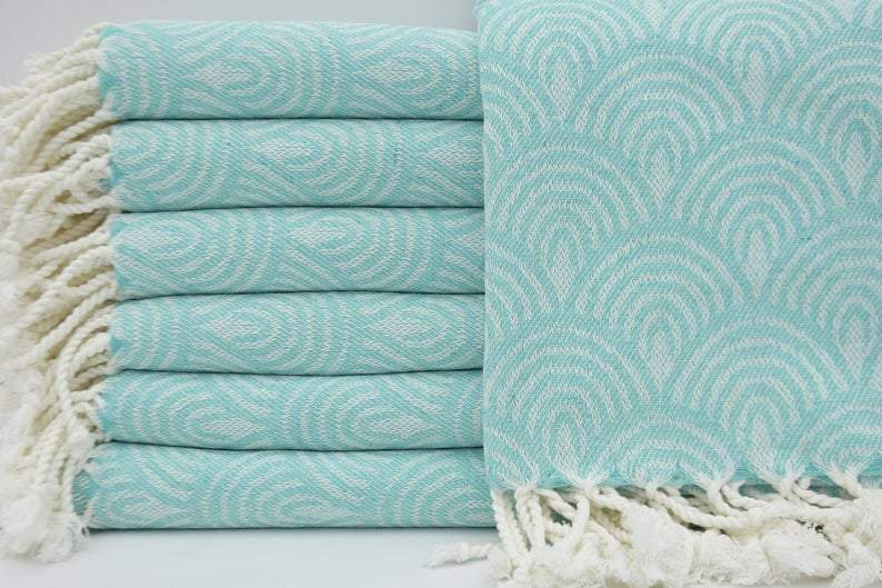 Happiness Comes in Waves Series - 100% Cotton Towels