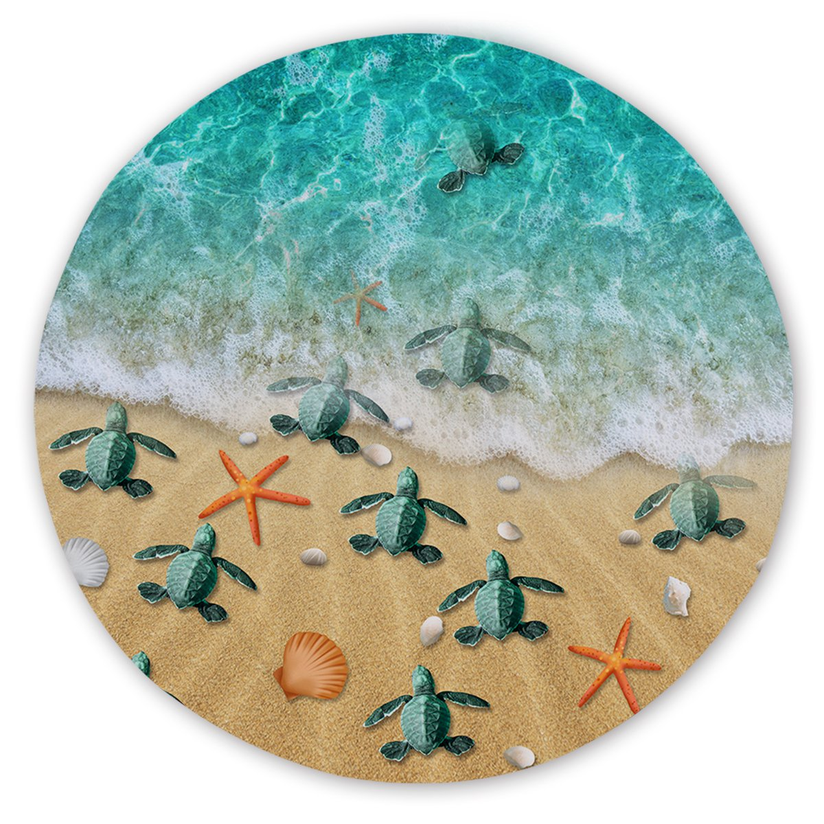Happy Hatchlings Round Sand-Free Towel