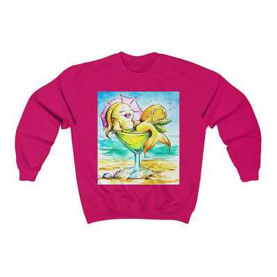 Happy Hour At The Beach Sweatshirt-Sweatshirt-Heliconia-L-Coastal Passion