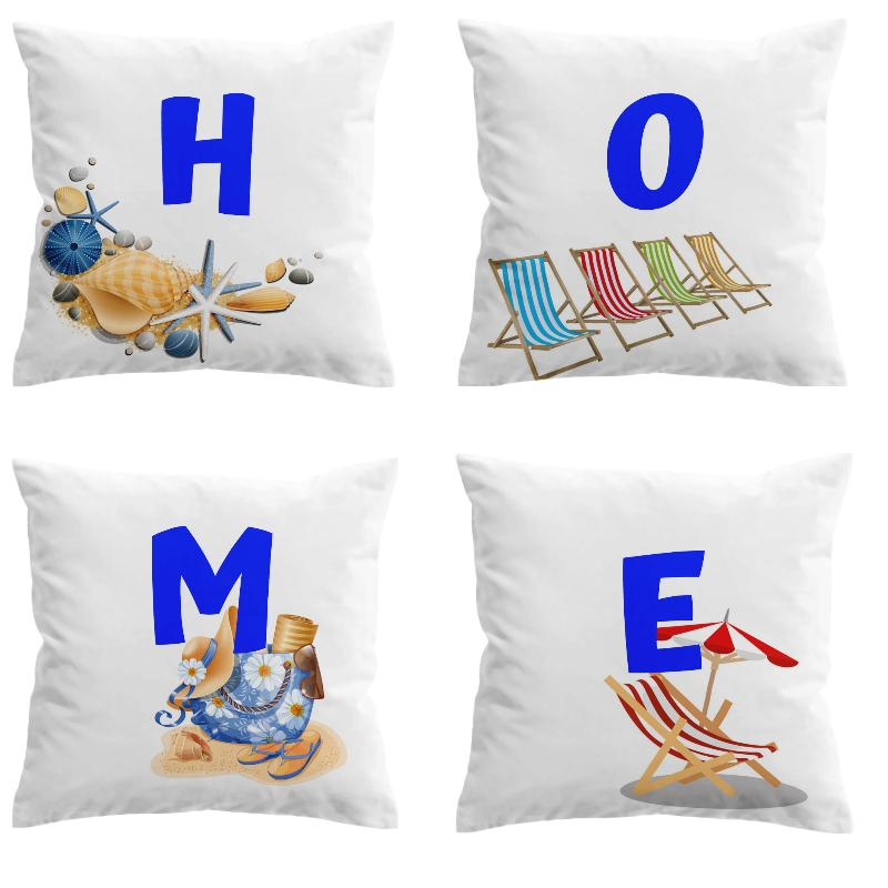 HOME is Where the Beach is Pillow Covers-Coastal Passion