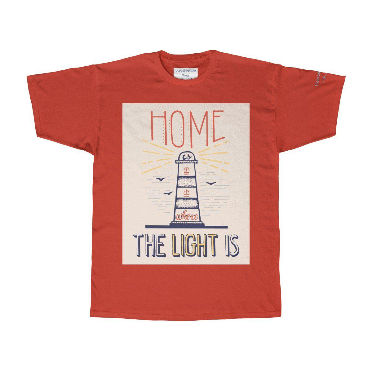 Home Is Where The Light Is Tee-T-Shirt-Red-S-Coastal Passion