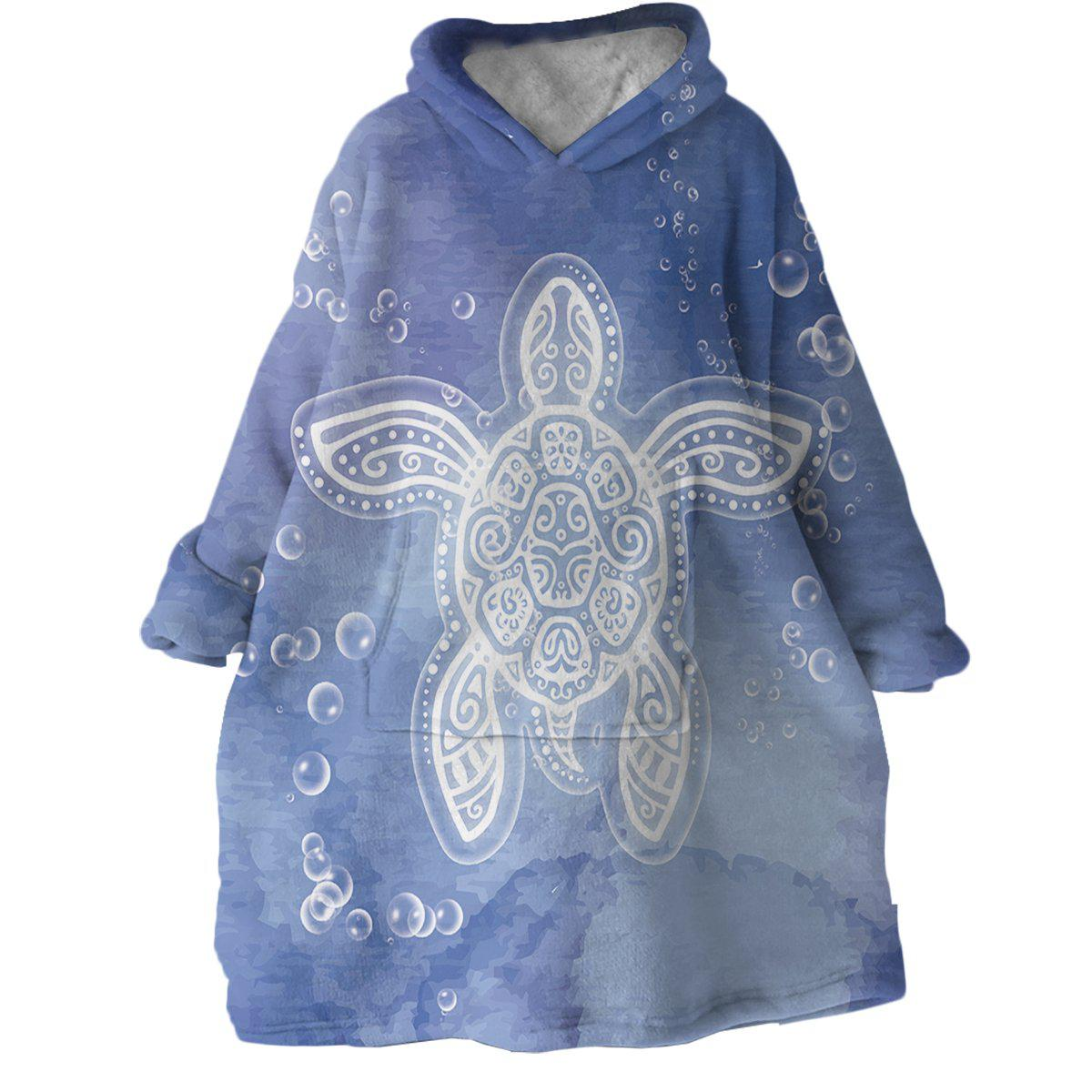 Honu Healing Wearable Blanket Hoodie-Coastal Passion