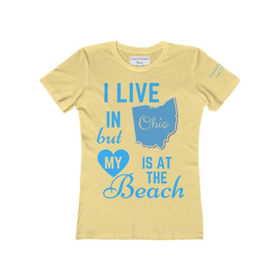 I Live In Ohio But My Heart Is at the Beach Shirt-T-Shirt-Solid Banana Cream-S-Coastal Passion