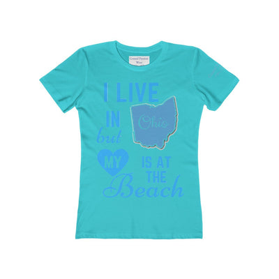 I Live In Ohio But My Heart Is at the Beach Shirt-T-Shirt-Solid Tahiti Blue-S-Coastal Passion