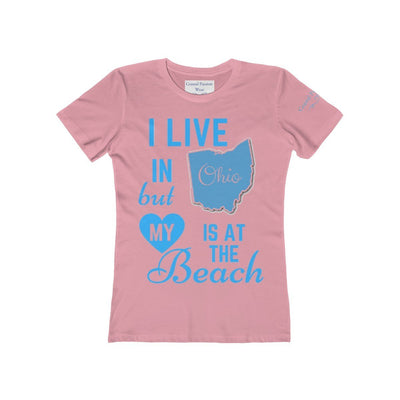 I Live In Ohio But My Heart Is at the Beach Shirt-T-Shirt-Solid Light Pink-S-Coastal Passion