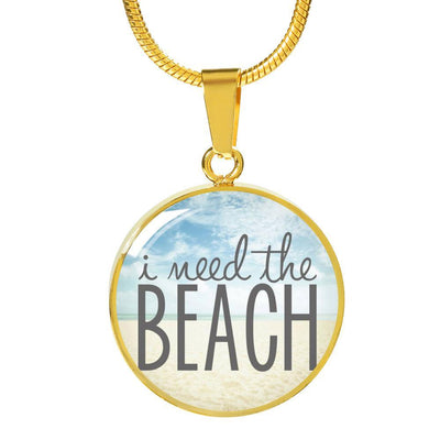Easter Promo I Need The Beach Necklace-Jewelry-Luxury Necklace (Gold)-Coastal Passion