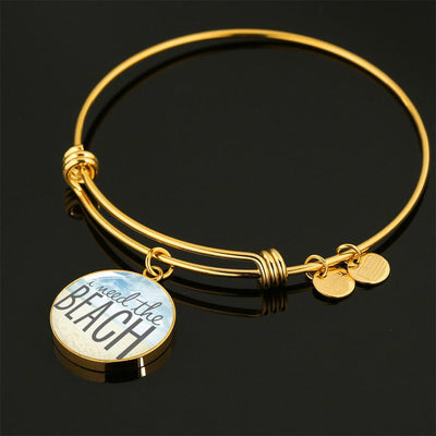 Easter Promo I Need The Beach Necklace-Jewelry-Luxury Bangle (Gold)-Coastal Passion