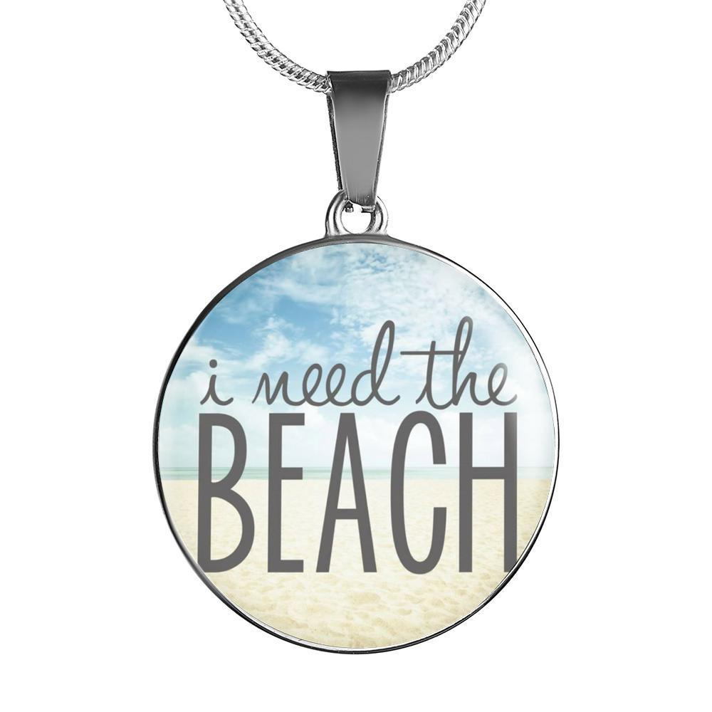 Easter Promo I Need The Beach Necklace-Jewelry-Luxury Necklace (Silver)-Coastal Passion