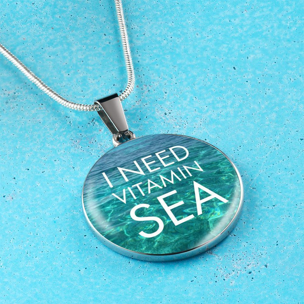 I Need Vitamin Sea Necklace-Jewelry-Coastal Passion