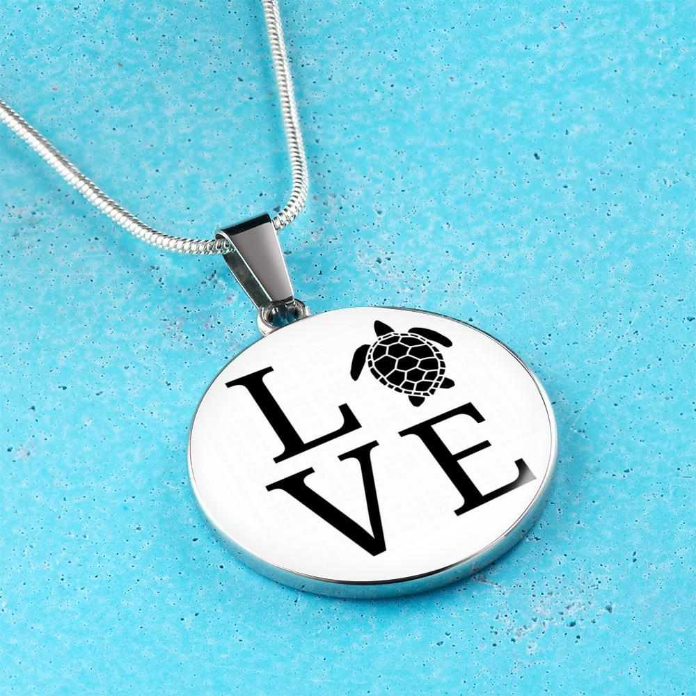 I ♥ Sea Turtle Necklace-Jewelry-Coastal Passion