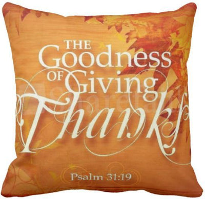 "I'm Thankful Collection-Pillow Cover-Design 12-17"" x 17""-Linen Blend-Coastal Passion"
