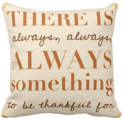 "I'm Thankful Collection-Pillow Cover-Design 4-17"" x 17""-Linen Blend-Coastal Passion"