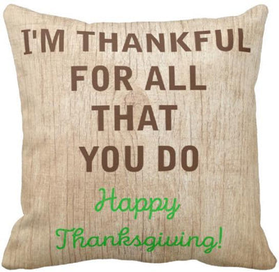 "I'm Thankful Collection-Pillow Cover-Design 7-17"" x 17""-Linen Blend-Coastal Passion"