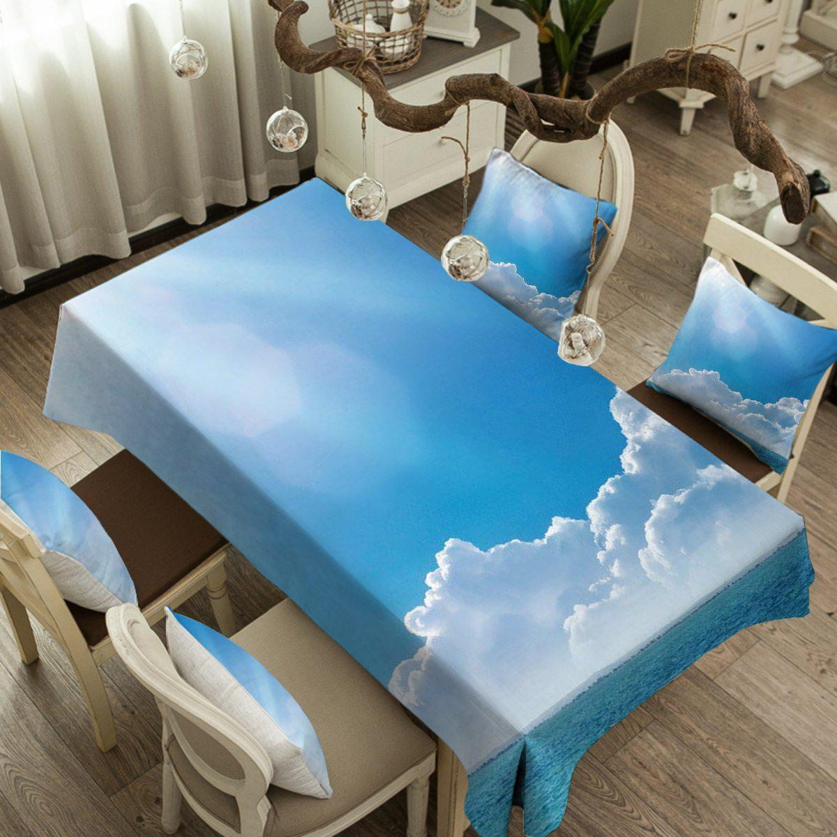 Into the Blue Tablecloth-Coastal Passion