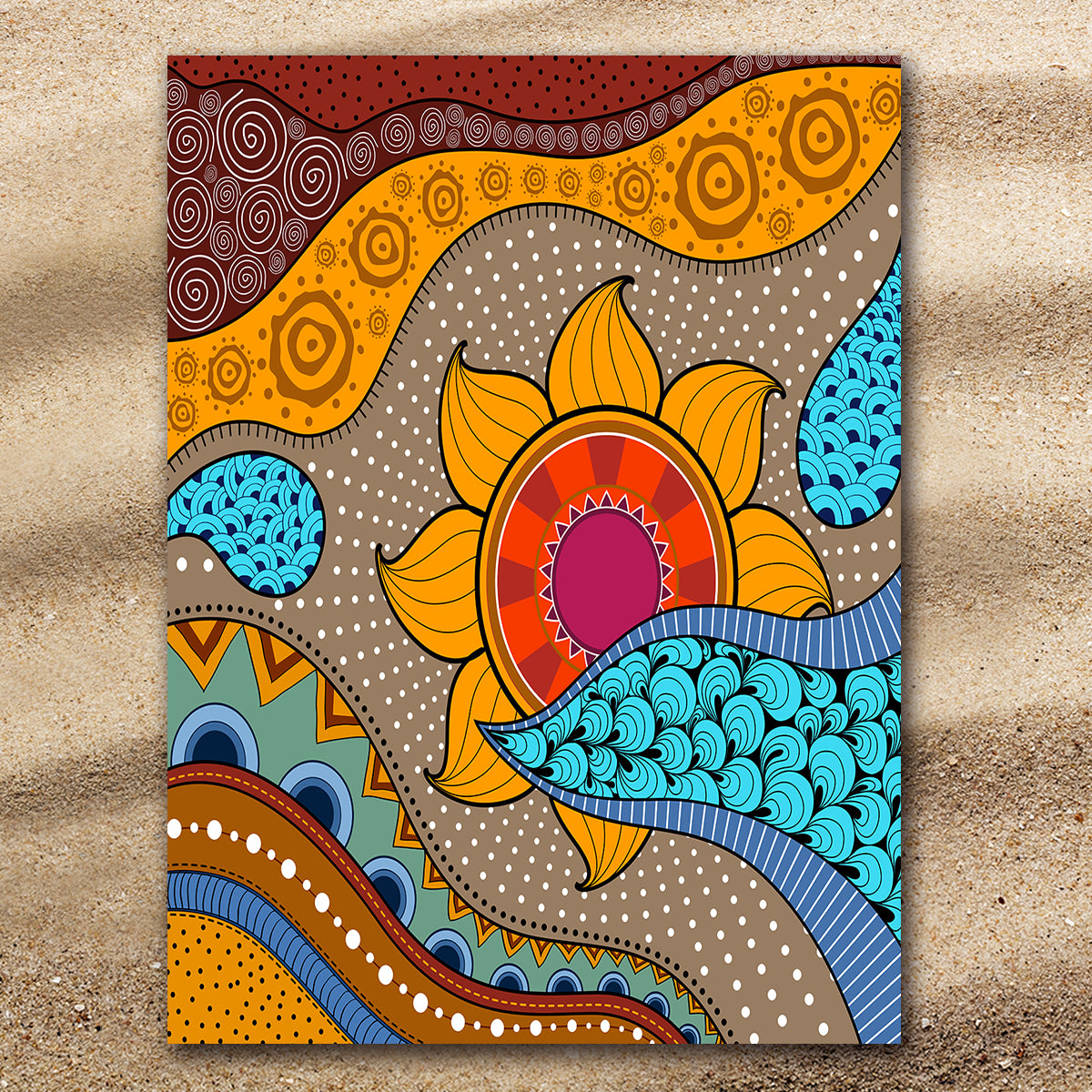 Sea, Sand & Sunflowers Extra Large Towel