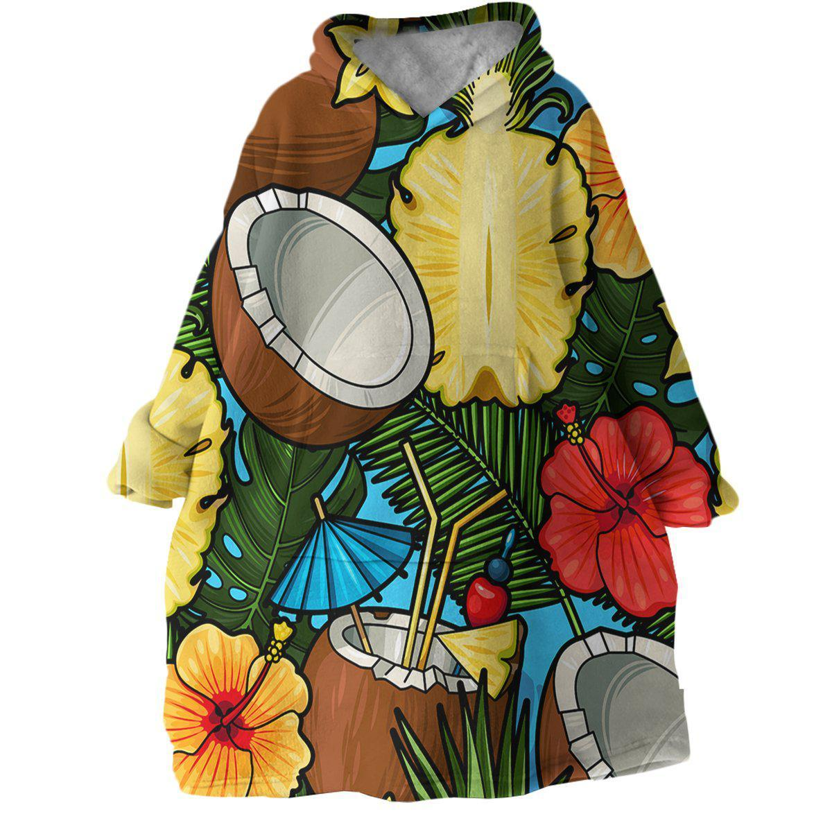 Kokos Wearable Blanket Hoodie-Coastal Passion