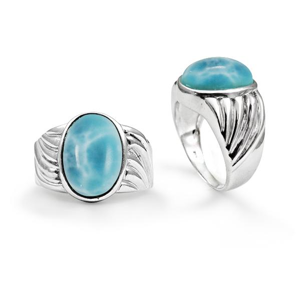 Larimar Cocktail Ring