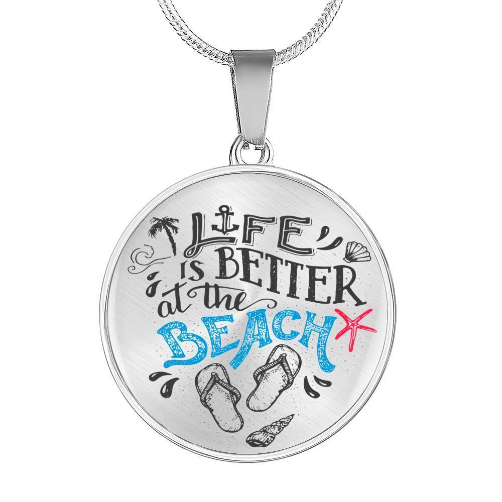 Life is Better at the Beach Necklace-Jewelry-Luxury Necklace (Silver)-No-Coastal Passion