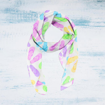 Life is Better in Flip Flops Soft Silky Scarf--Coastal Passion