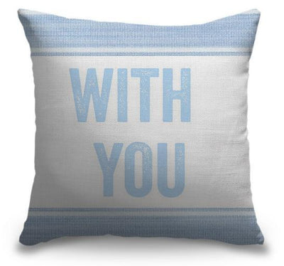 "Life Is Better Light Blue Series-Pillow Cover-17"" x 17""-Standard: Linen-Poly-With You-Coastal Passion"