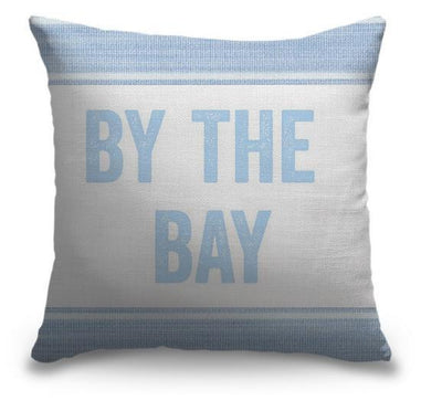 "Life Is Better Light Blue Series-Pillow Cover-17"" x 17""-Standard: Linen-Poly-By the Bay-Coastal Passion"