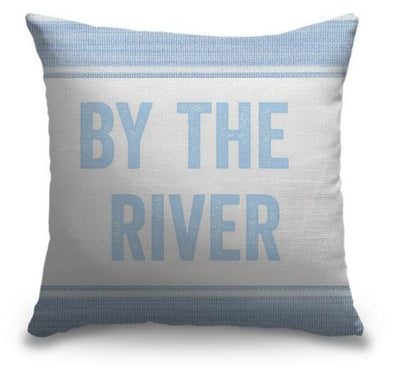"Life Is Better Light Blue Series-Pillow Cover-17"" x 17""-Standard: Linen-Poly-By the River-Coastal Passion"
