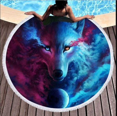 Round Beach Towel-Lonan - The Cloud-Coastal Passion