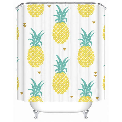 "Love Pineapple Shower Curtain-Shower Curtain-70"" x 78""-Coastal Passion"