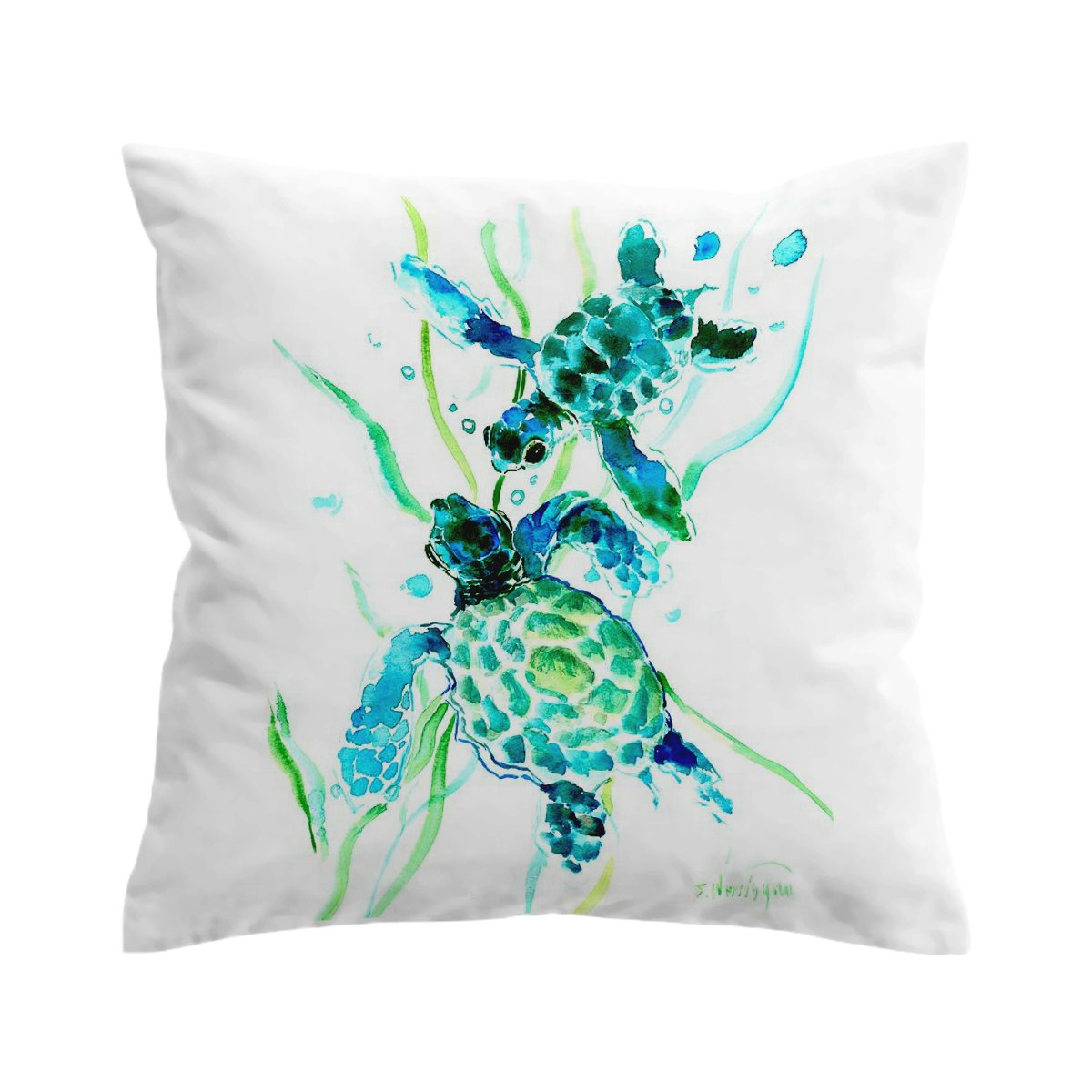 Lovely Little Sea Turtles Pillow Cover-Coastal Passion