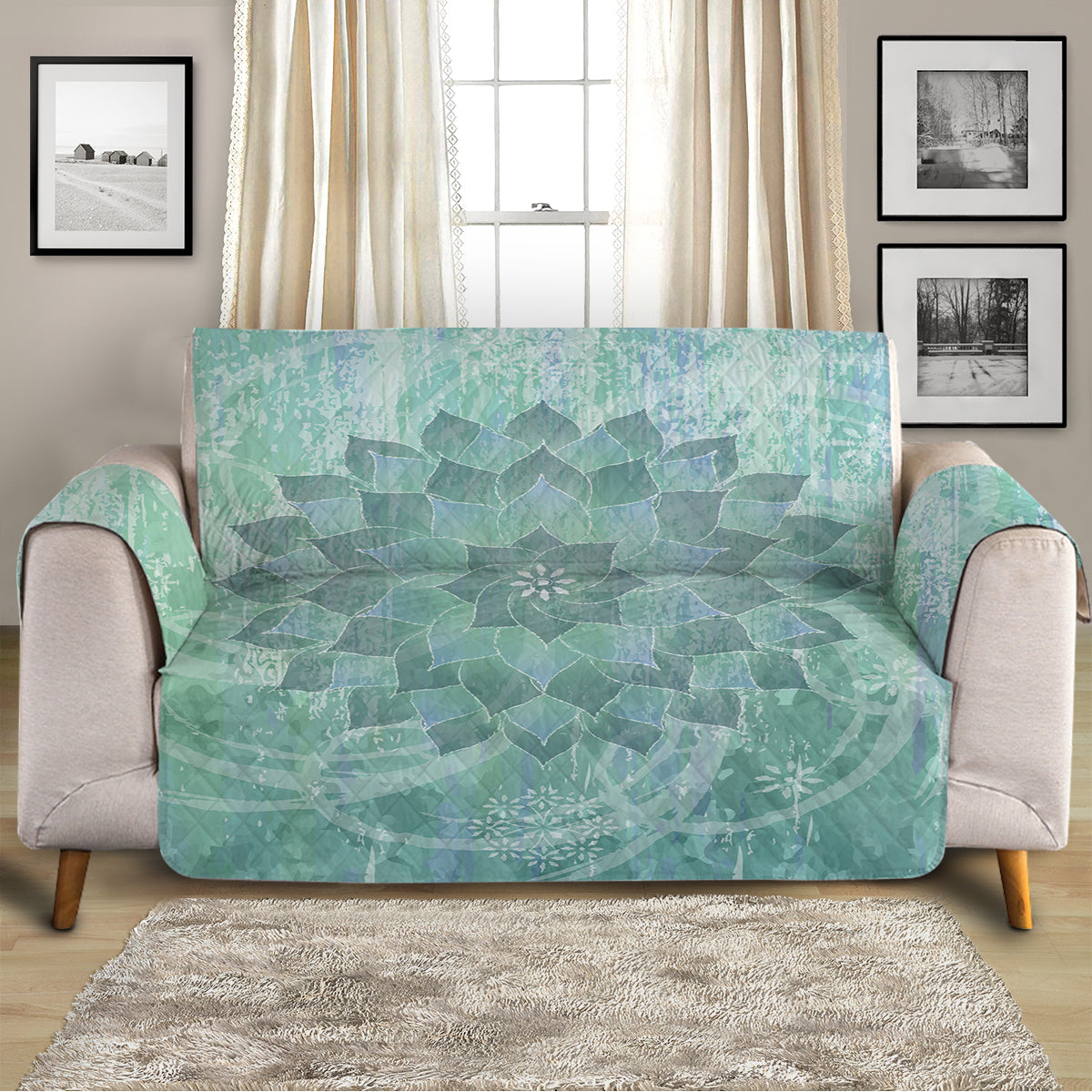 The Ocean Hues Sofa Cover