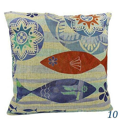 "MAXI Blue Ocean Series NEW!-Pillow Cover-Extra-Large 24"" x 24""-10 Fish-Coastal Passion"