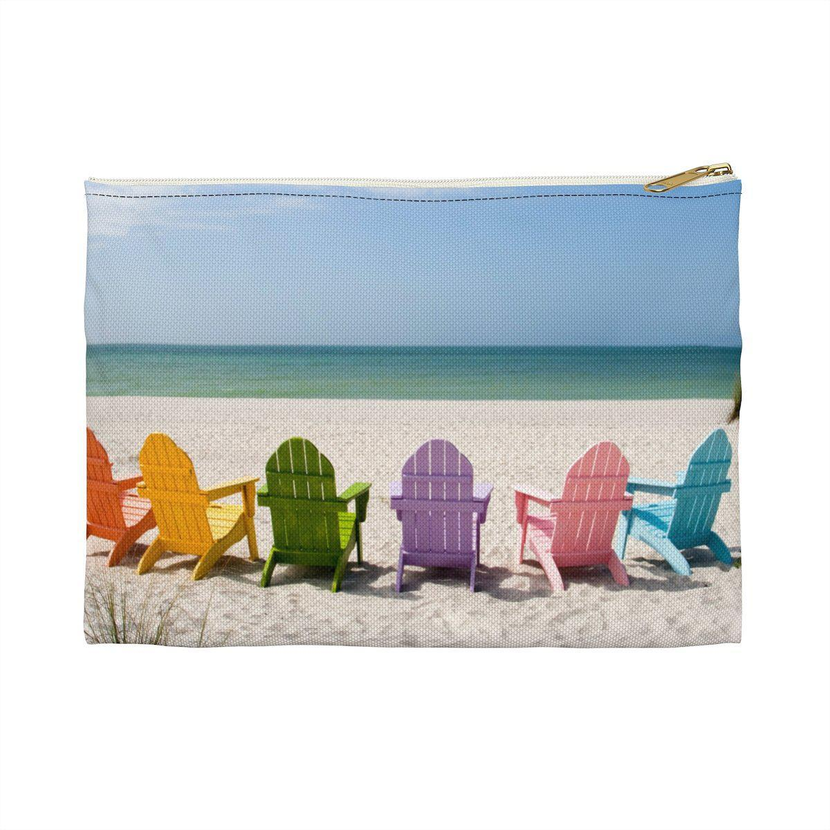 Bags-Me, You and the Beach Pouch-by Coastal Passion-Small Large Length, in 8.35 11.82 Height , in 5.99 8.35 Our flat pouches vary from small to large and can be used for pretty much anything. They make excellent pencil cases and cosmetic travel bags. They are constructed of a durable material with a zipper closure. .: 100% Polyester .: Multiple sizes .: Flat corners .: With non-laminated lining