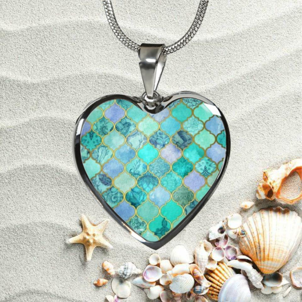 Mermaid Heart Necklace-Jewelry-Coastal Passion