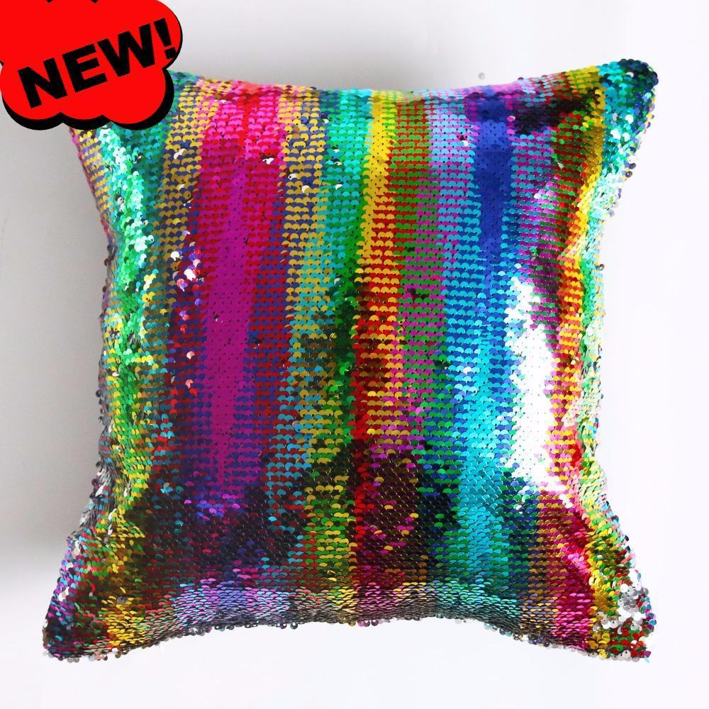 Mermaid Magic Pillow Cover--Coastal Passion