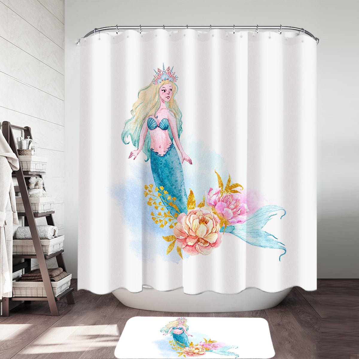 Mermaid Delight Shower Curtain