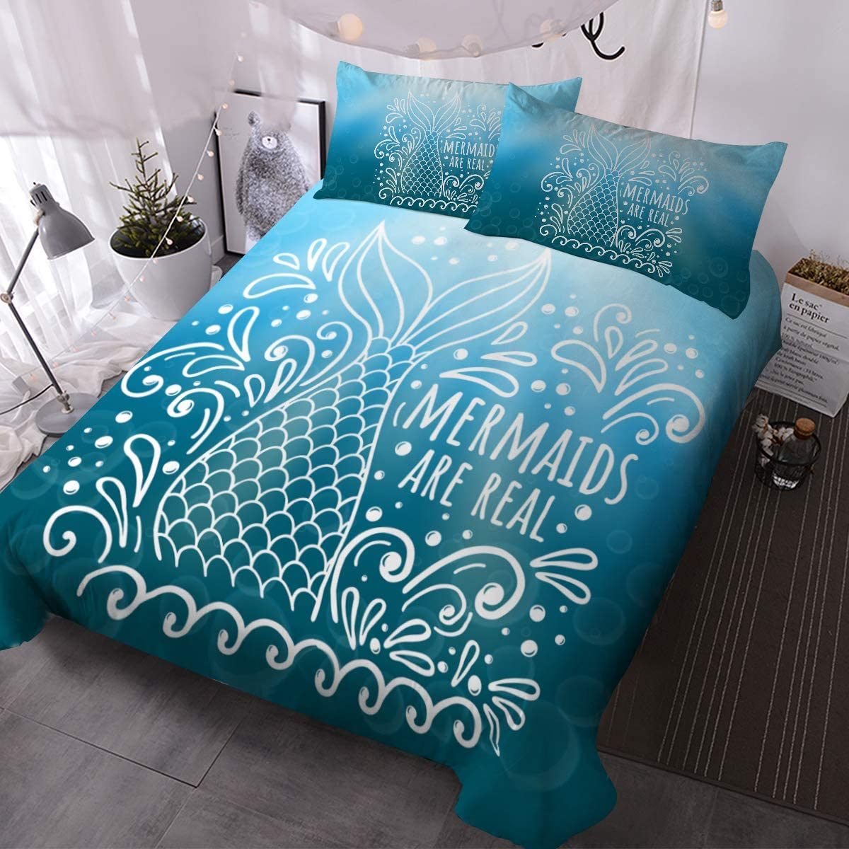 Mermaids Are Real Bedding Set-Coastal Passion