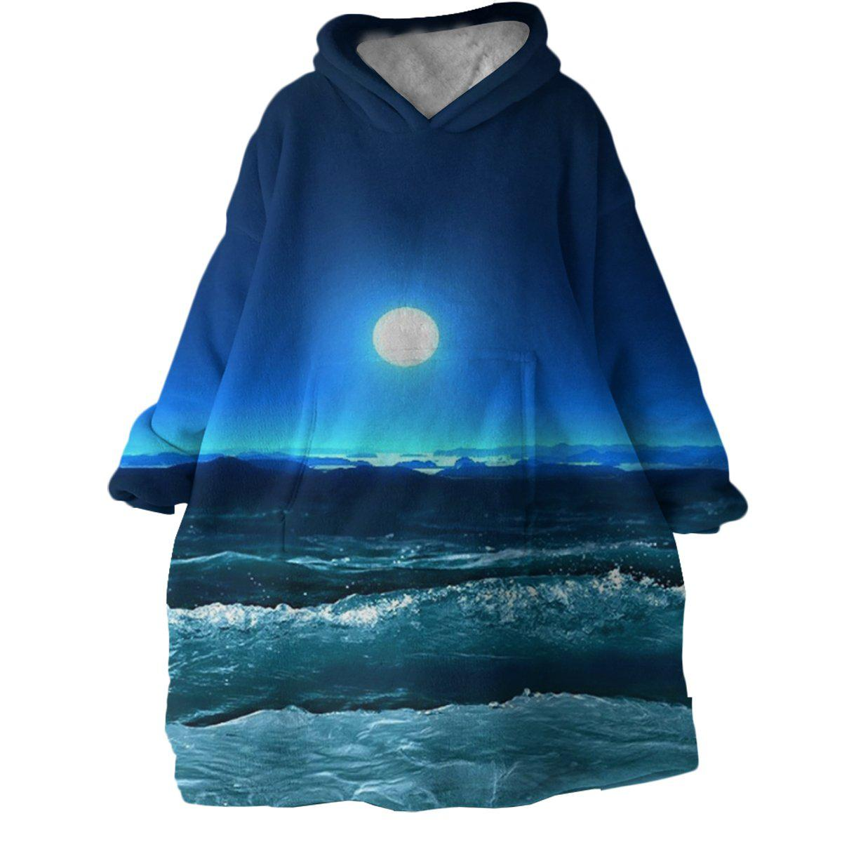 Moonlight Magic Wearable Blanket Hoodie-Coastal Passion