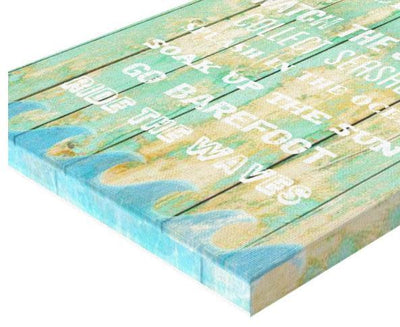 My Beach House Gallery Wrap--Coastal Passion