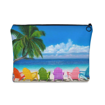 "My Happy Place Carry All Pouch-Bags-7"" x 10""-Coastal Passion"
