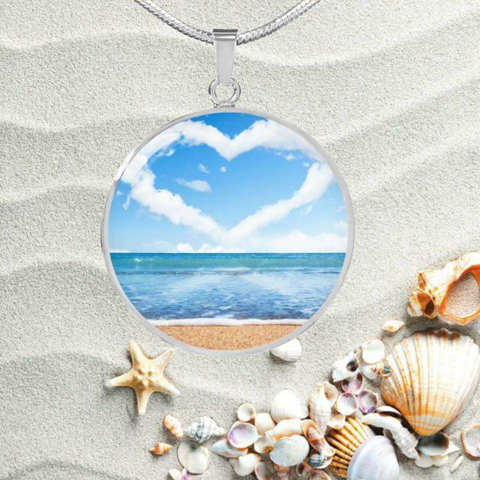 My Heart Is At The Beach Necklace-Jewelry-Coastal Passion