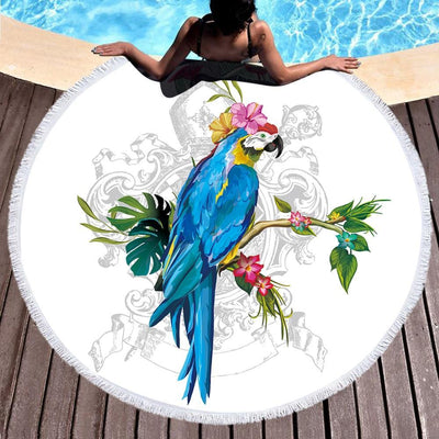 Animal Spirit Round Beach Towels Collection-Round Beach Towel-Coastal Passion