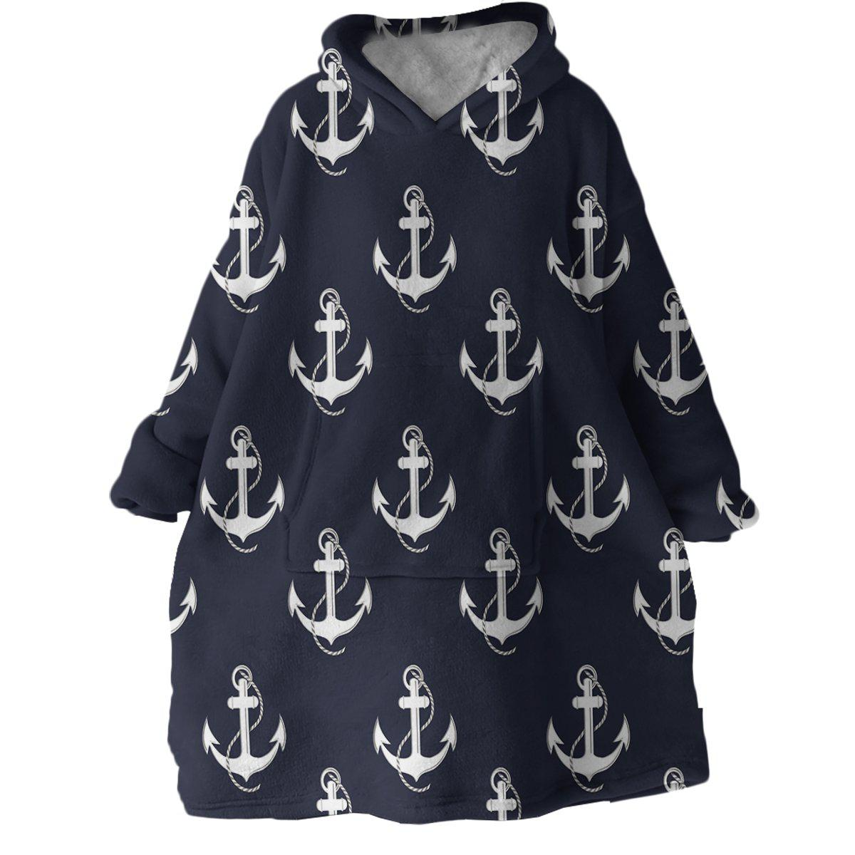 Nautical Passion Wearable Blanket Hoodie-Coastal Passion