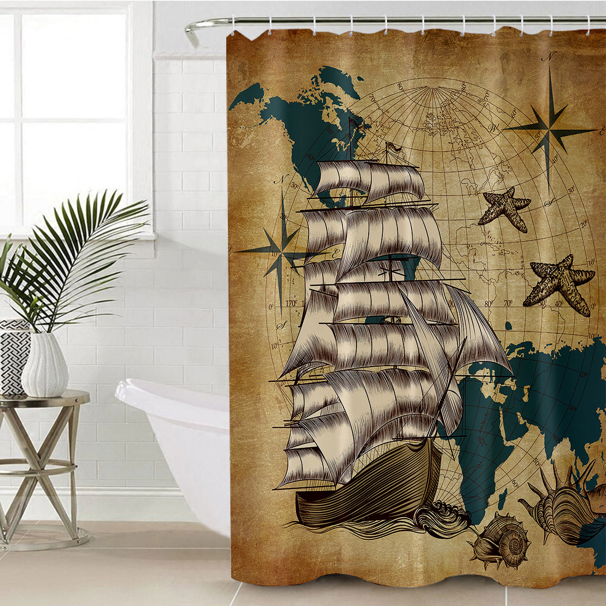 Ship Ahoy Shower Curtain