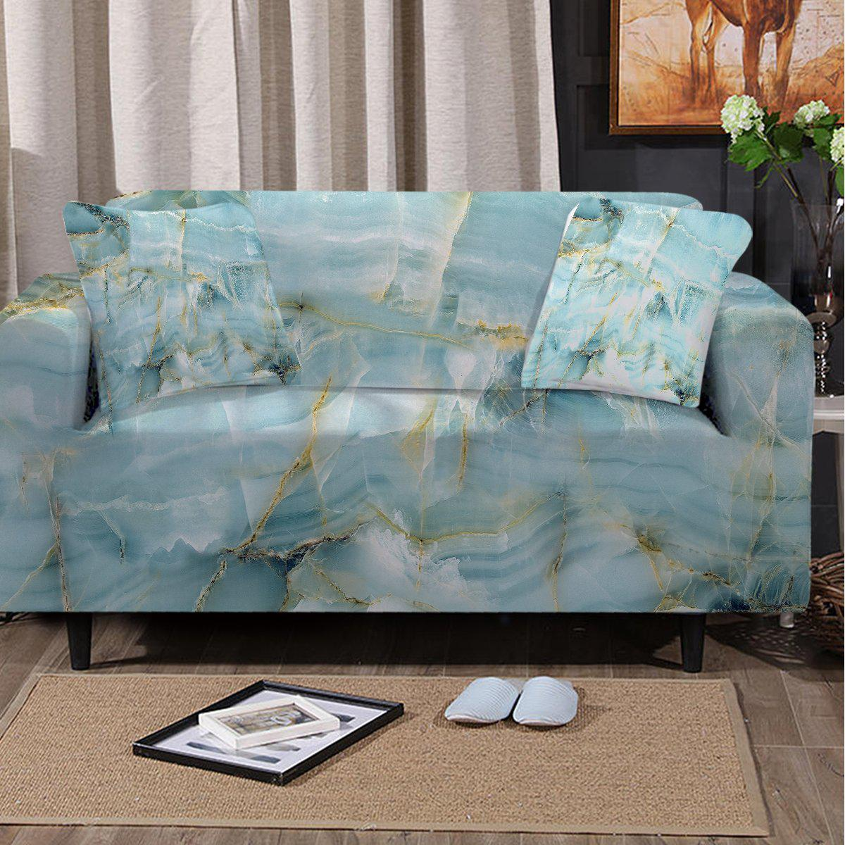 Sofa Slipcover-Navagio Beach Couch Cover-Coastal Passion
