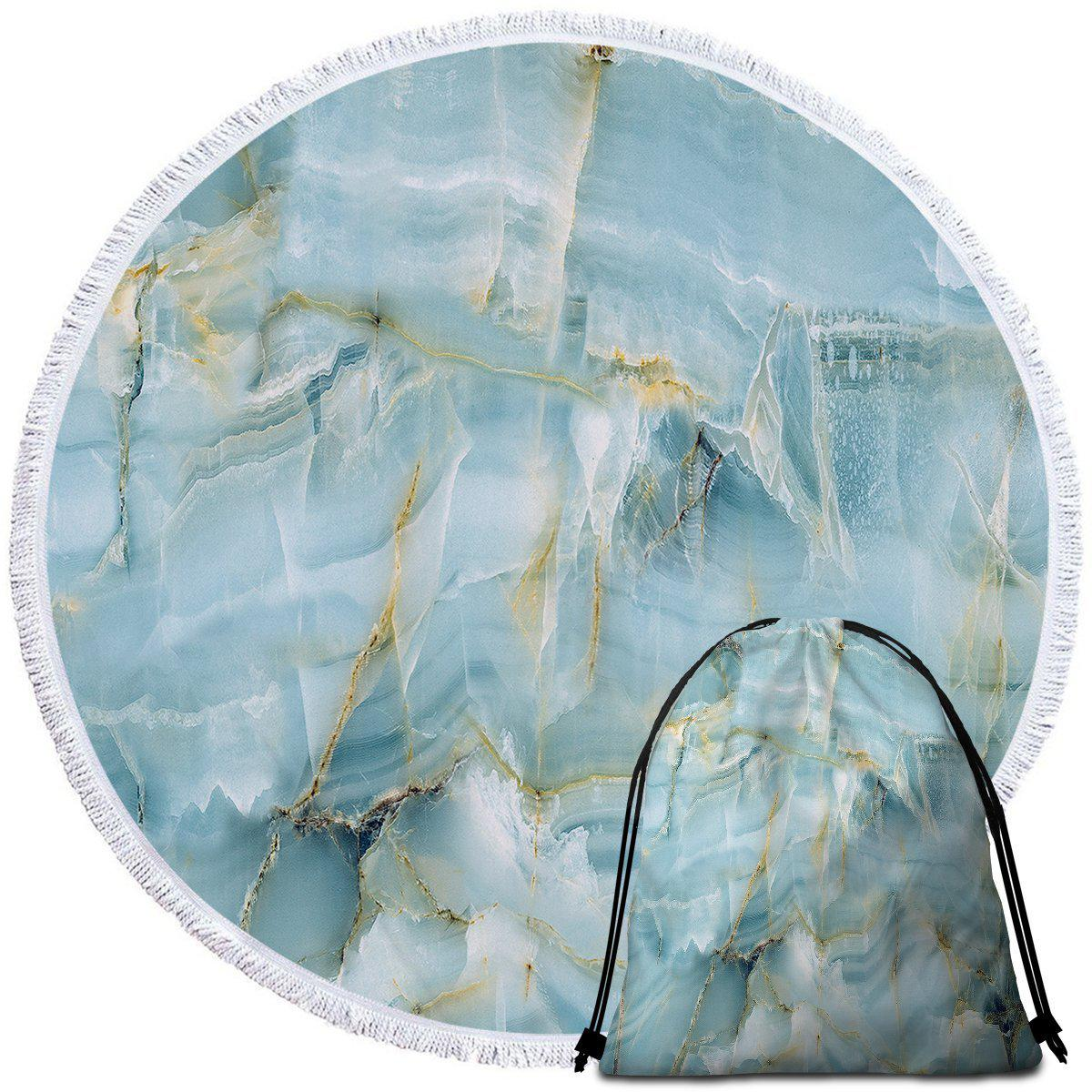 Round Beach Towel-Navagio Beach Towel + Backpack-Coastal Passion