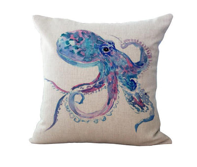 Ocean Art Collection-Pillow Cover-Octopus-Coastal Passion