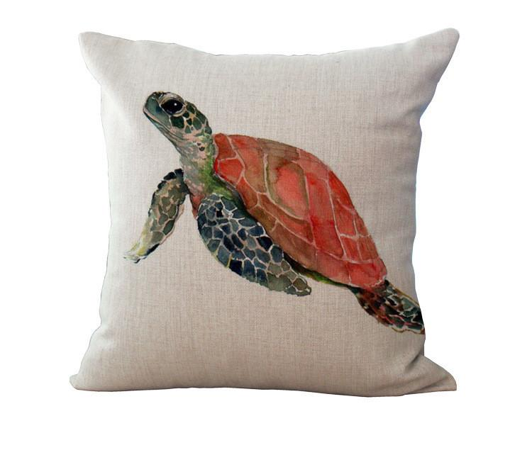 Ocean Art Collection-Pillow Cover-Sea Turtle-Coastal Passion