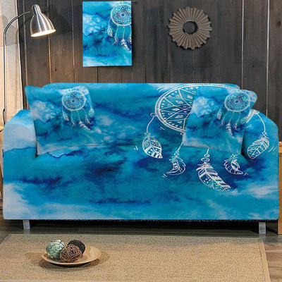 Sofa Slipcover-Ocean Dreaming Couch Cover-Coastal Passion