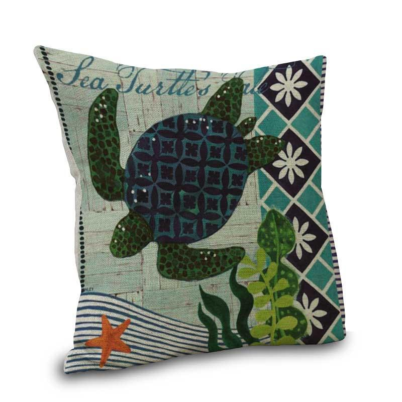 Ocean Life Collection-Pillow Cover-Sea Turtle-Coastal Passion