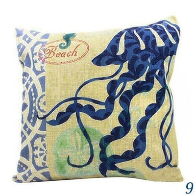 Ocean Mermaid Double Sided Pillow Covers-Pillow Cover-9 Jellyfish-9 Jellyfish-Coastal Passion